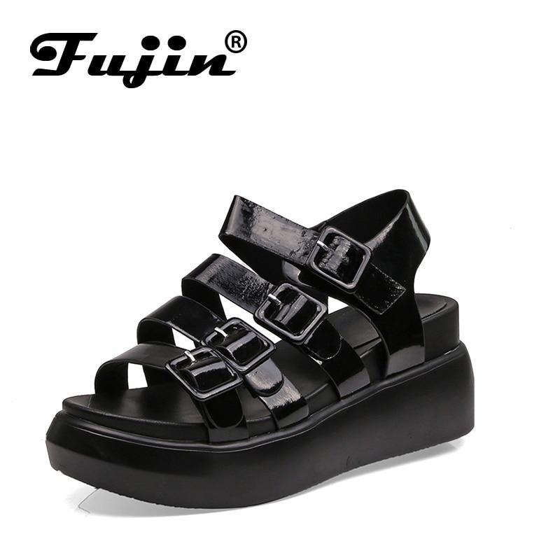 Fujin 2018 New Hot Sale Sandals Women Summer Slip On Shoes Flat Shoes Roman Sandals Mujer Sandals Ladies Flip Flops Sandal