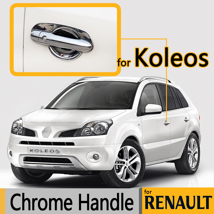 For Renault Koleos Luxurious Chrome Door Handle Covers 2007-2015 Accessories Trim Set of 4Pcs Car Styling 2009 2010 2013 2014
