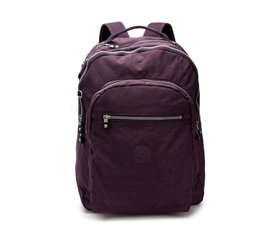 Leather school bag online - New Kiple Zipper Nylon Backpacks Designer School Bags For Men Women
