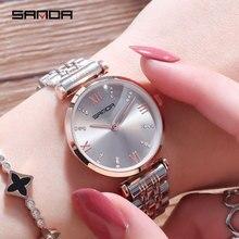 ladies watches 2019 luxury brand watch golden and silver stainless steel watch quartz watch gifts for women watches fashion