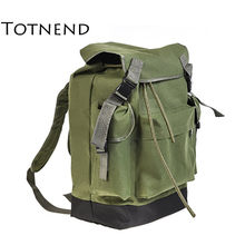 Shoulder Library Fishing Canvas Backpack Army Green 70L European Outdoor Large Capacity Multi-purpose Fishing Gear Bag(China)