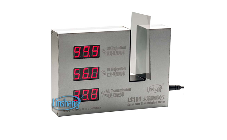Transmission Meter LS101 Solar Film Window Tint Infrared950nm Ultraviolet365nm rejection Visible light 550nm transmission tester
