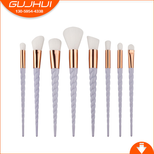 8 Unicorn Horn Mermaid Makeup Brush Thread New Colorful Makeup Brush Set GUJHUI 7pcs sets new europe and the united states selling liquid flash makeup brush set flow flash unicorn makeup brush fantasy mermaid