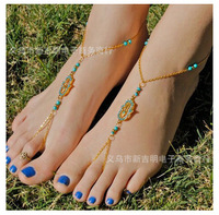 new fashion retro hand inlaid crystal luck Fatima bergamot Mittens anklets free shipping