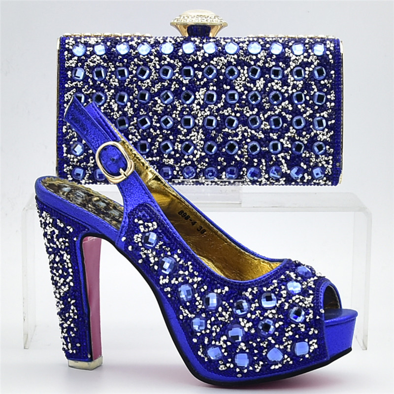 Azul Mujeres Conjuntos Bolso Zapatos Con green De Decorado La Alto Diamantes Zapato Boda Africanas Imitación oro Las Calidad Tacón púrpura Bolsa Alta Boda Italiano Y qttwaA1F