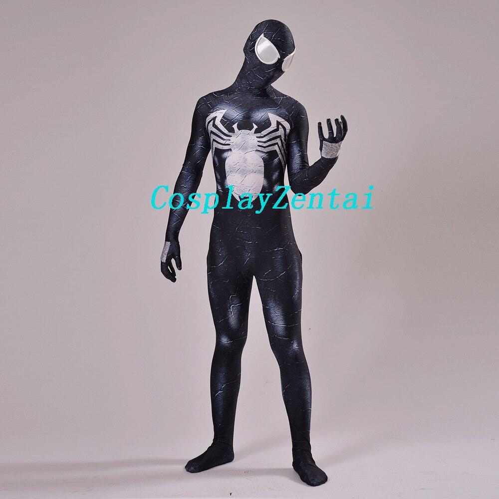 Venom Spider-man Spandex 3D-печать Черный Venom Symbiote - Карнавальные костюмы