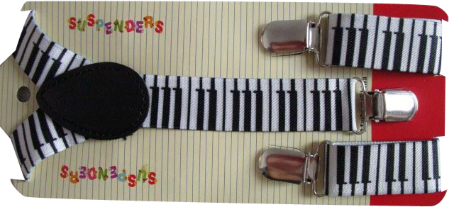 Free Shipping 2019 New Cute Adjustable 1 Inch Children Black and White Keyboard Printed Suspenders Boys Girls Braces in Men 39 s Suspenders from Apparel Accessories