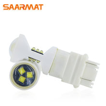 SAARMAT 2* Led T25 3156 3157 T20 7440 7443 WY21W T15 W16W H7 H11 H8 9005 HB3 H10 9006 HB4 H16(JP) P13W 1156 ceramics lights lamp(China)