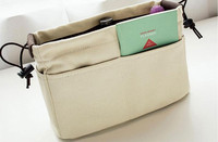 Small Easy Carry Large Handbag Purse Dual Organizer Canvas Cosmetic Storage Bags