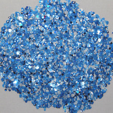 Mixed Dot 39-500grams/lot Mix Colors Round Spangle shape glitter Flake cosmetic powder for nail Gel  (solvent resistant)