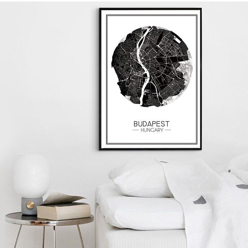 Budapeşt Macarıstanının müasir xəritəsi Tətil İncəsənət - Ev dekoru - Fotoqrafiya 2