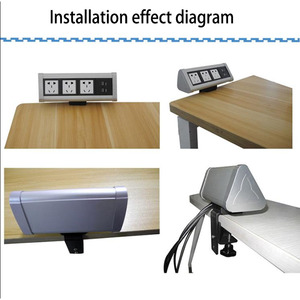 Image 5 - מפעל ישיר מכירות ניתן להעביר/לא פתיחת שולחן/קליפ שולחן עבודה מולטימדיה שקע שולחן עבודה אופנתי נוח שקע  PD 01