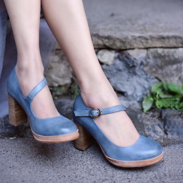 4fdc32cfba artmu comfort high heels women pumps leather woman gladiator shoes ...