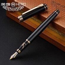 قلم حبر Hero 1078 الأصلي عالي الجودة يصلح كهدية قلم النسر لرجال الأعمال والطلاب الخط الأسود الشحن مجاني