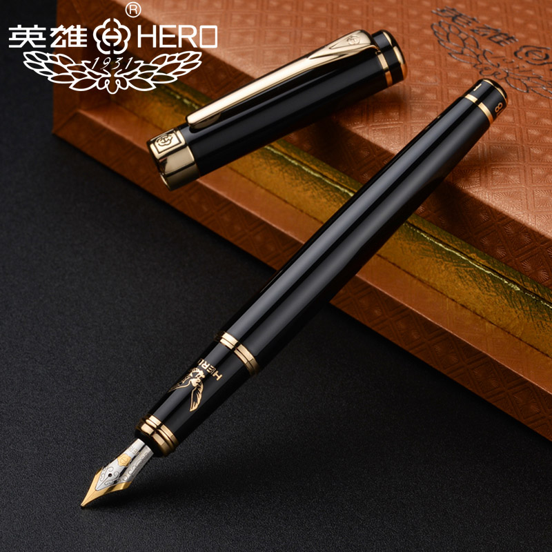 Original Hero 1078 fountain pen high-end gift eagle pen business men students calligraphy black  FREE shipping qshoic gift box package fountain pen hero metal pen calligraphy write office hero pen gift box for students fountain pen luxury