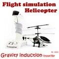 NOVA CHEGADA 3-channel Realistic sensoriamento NO. 10020 aviões de controle remoto helicóptero de controle RC avião LEVOU luz
