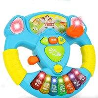Twórczy Symulacja Kierownicy Zabawki Pomarańczowy Trąbka Migające Dzieci Muzyka Koordynację Ręka-oko Kierownicy Kierownicy Zabawki