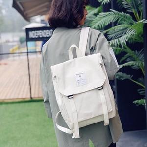 Image 2 - Darmowa wysyłka kobiety studenci modny plecak Mochila Feminina Mujer 2019 torby podróżne szkolne Bolsa Escolar torba męska