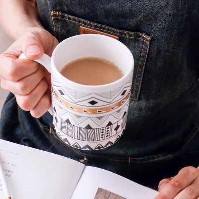 Кофейная Кружка пивная кружка Геометрическая Золотая Бесплатная доставка