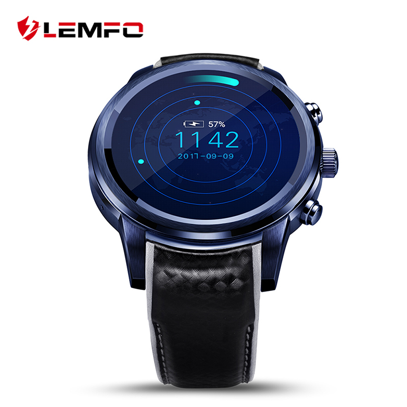 Smart Watch Men LEM5 Pro Smartwatch Phone Android 2GB + 16GB Support SIM card GPS Tracker WiFi Wristwatch 3G Heart Rate Monitor android 5 1 smartwatch x11 smart watch mtk6580 with pedometer camera 5 0m 3g wifi gps wifi positioning sos card movement watch