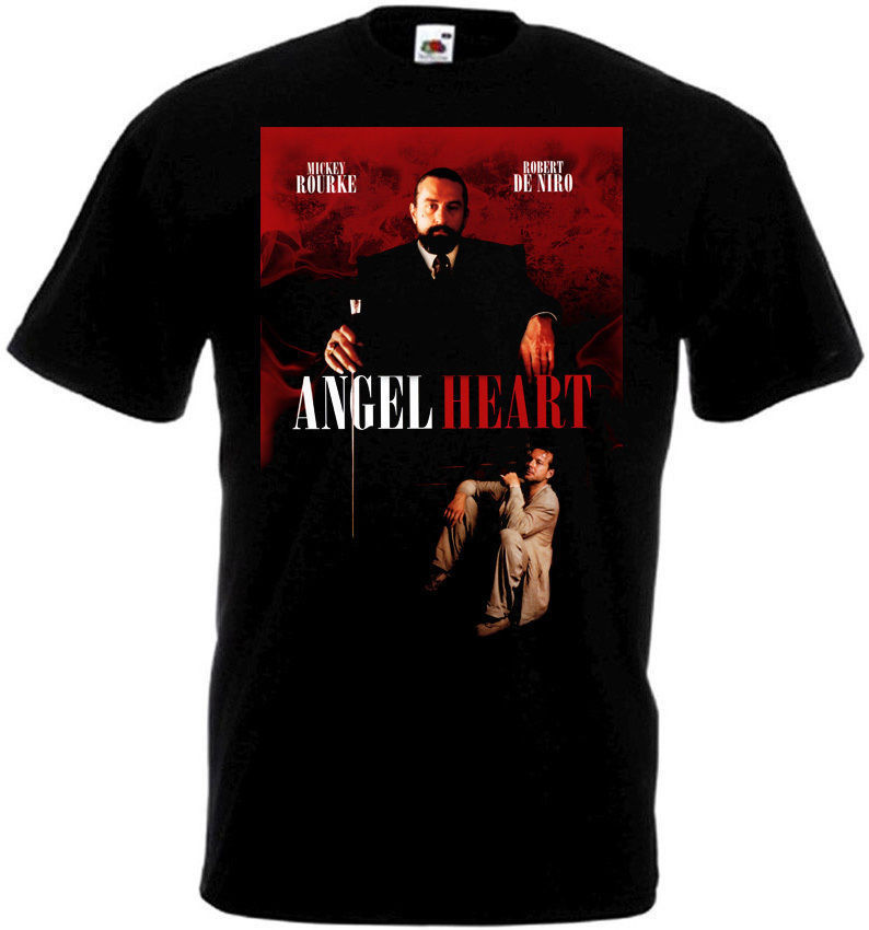 ANGEL HEART Movie Poster T Shirt All Sizes Black Top Quality T Shirts Men O Neck Top Tee 2018 Newest Men'S Funny