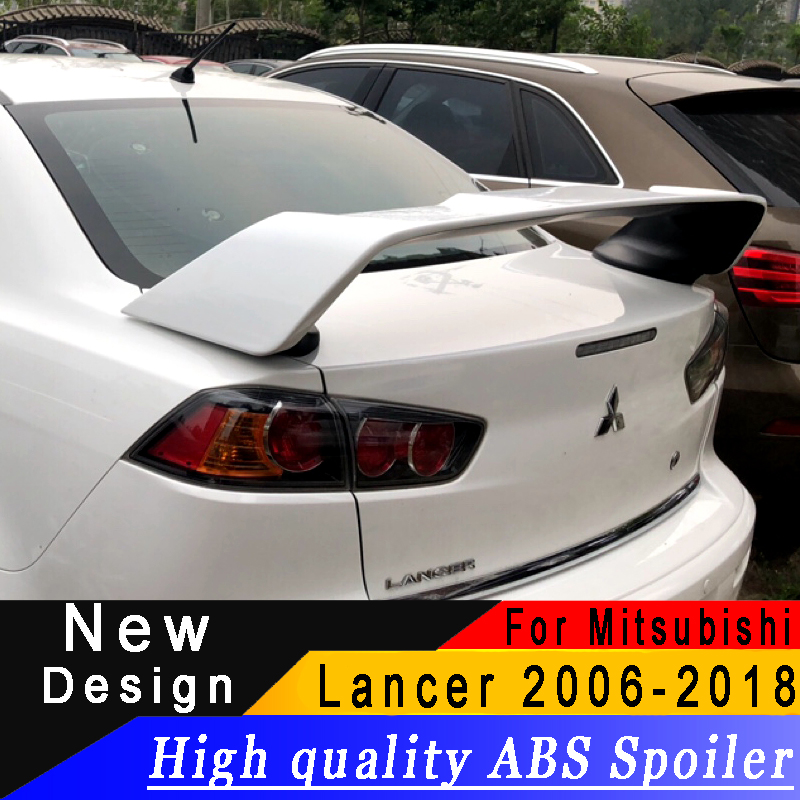 For Mitsubishi Lancer EX 2006 to 2018 New type spoiler High quality ABS spoiler Primer or