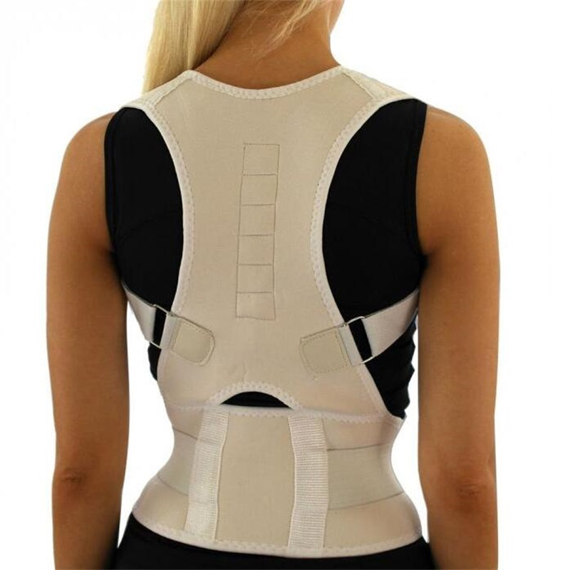 Men Orthopedic Back Support Belt Correct <font><b>Posture</b></font> Brace Correcteur de <font><b>Posture</b></font> 10 Magnets XL XXL B002 Magnetic <font><b>Posture</b></font> Corrector