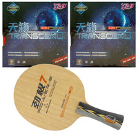 Pro Combo Racket DHS POWER G7 PG7 PG 7 Blade Long Shakehand FL with 2x RITC729 TRANSCEND CREAM Rubbers