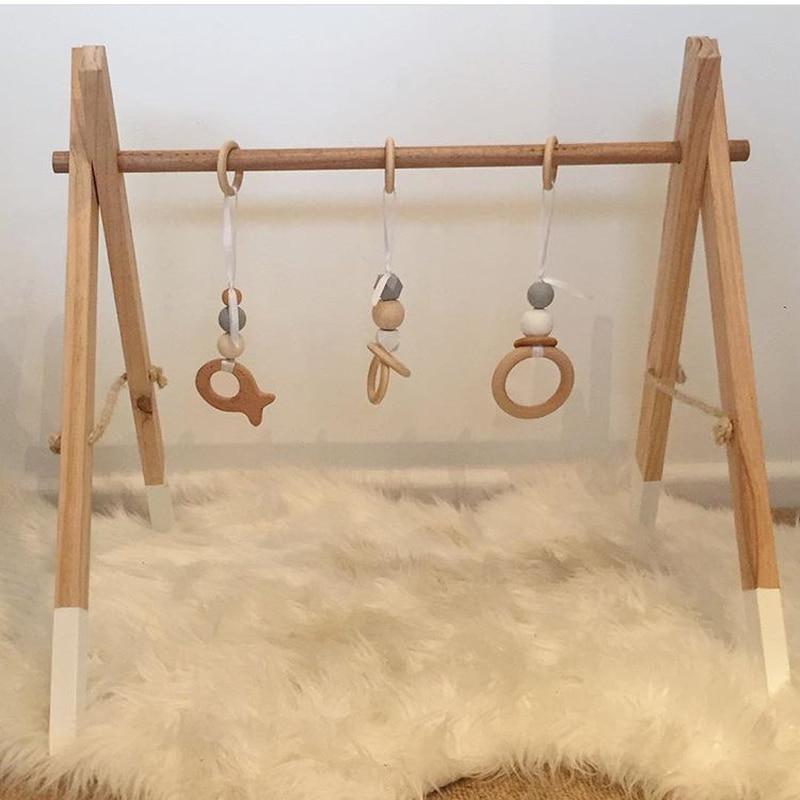 Bébé activité musicale Gym cadres en bois Protection de l'environnement jouets éducatifs pour enfants photographie Prop décoration