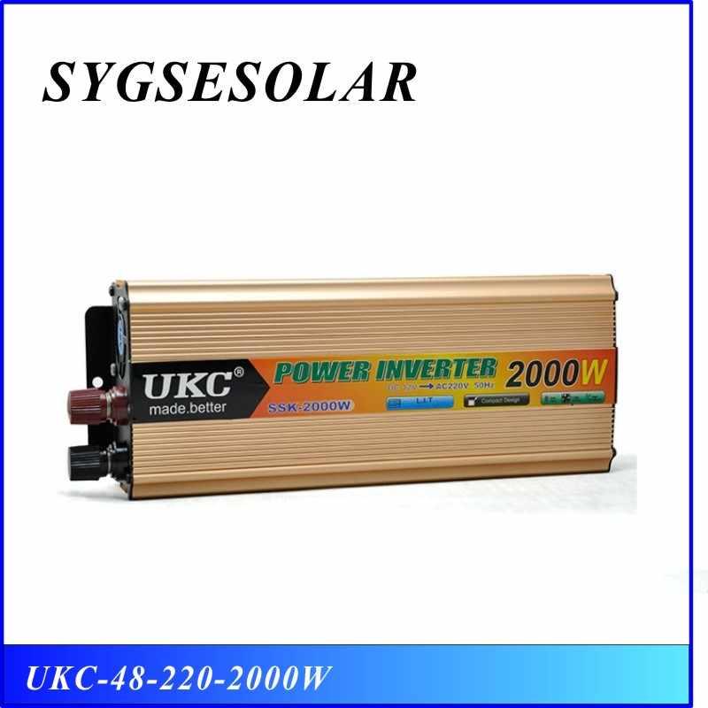 100% Оригинальный Инвертор 48 в 220 в 2000 Вт 50 Гц/60 Гц, универсальный модифицированный синусоидальный солнечный инвертор, бесплатная доставка