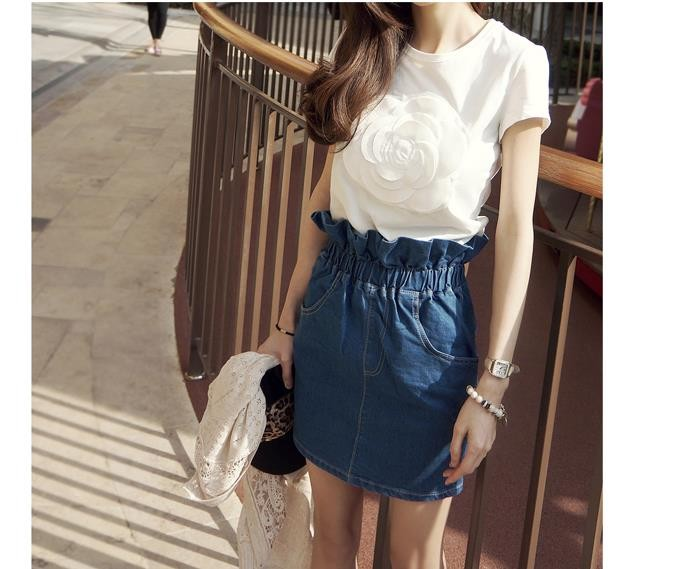 HTB1hv18LVXXXXa2XXXXq6xXFXXXJ - Wonderfulland women summer 3d camellia embroidery luxury T-shirt