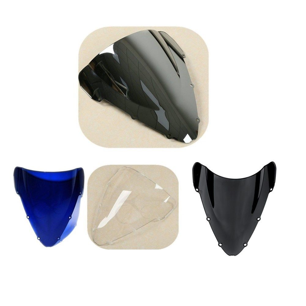 Motorcycle Dual Bubble Windshield Windscreen For Honda CBR 600 F4I 01-08 02 03 04 05 06