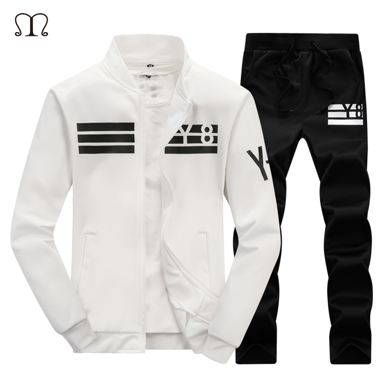Brand Men Sets New Fashion Autumn Spring Sporting Suit Sweatshirt +Sweatpants Mens Clothing 2 Pieces Sets Slim Fitted Tracksuit
