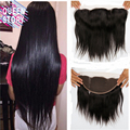 8A Grade Unprocessed Brazilian Virgin Hair Lace Frontal Brazilian Straight 13*4 Ear to Ear Lace Frontal With 100% Human Hair