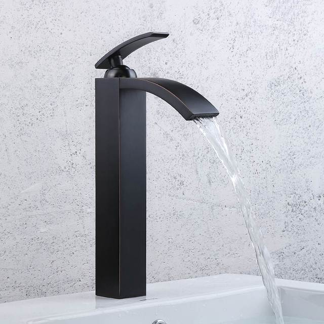 Oil Rubbed Bronze Bathroom Faucets Tall Basin Faucets Black Sink ...