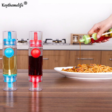 Keythemelife Kitchen Oil Sprayer Pot Dual Use Pump Spray+Leakproof Nozzle Adjustable Button Olive Bottle With Cover Cooking B0