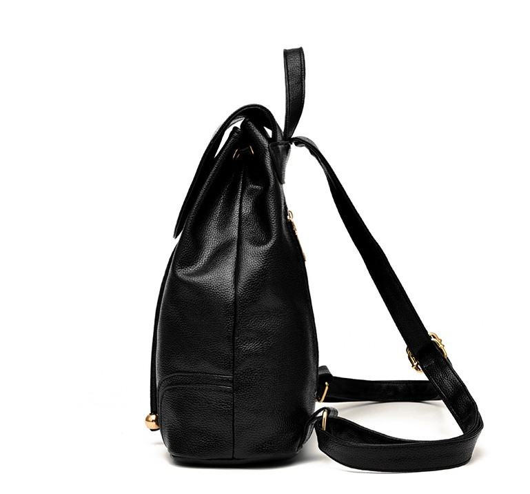Jocestyle Shoulder Bag for Women Leather Solid Color Cross-Body With Lattice Fits Daily Use Travel