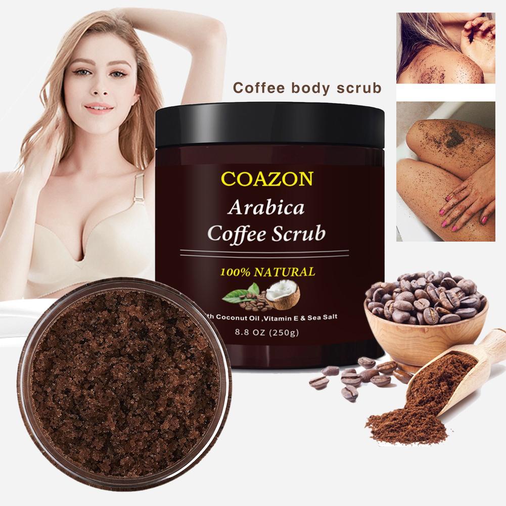 Coffee Body Exfoliation Facial Exfoliator Dead Sea Salt Cream For Exfoliating Whitening Moisturizing Anti Cellulite Treatment