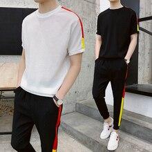 Мужской спортивный костюм Summer Men Set Футболки с коротким рукавом Хип-хоп топы Костюм Спортивная