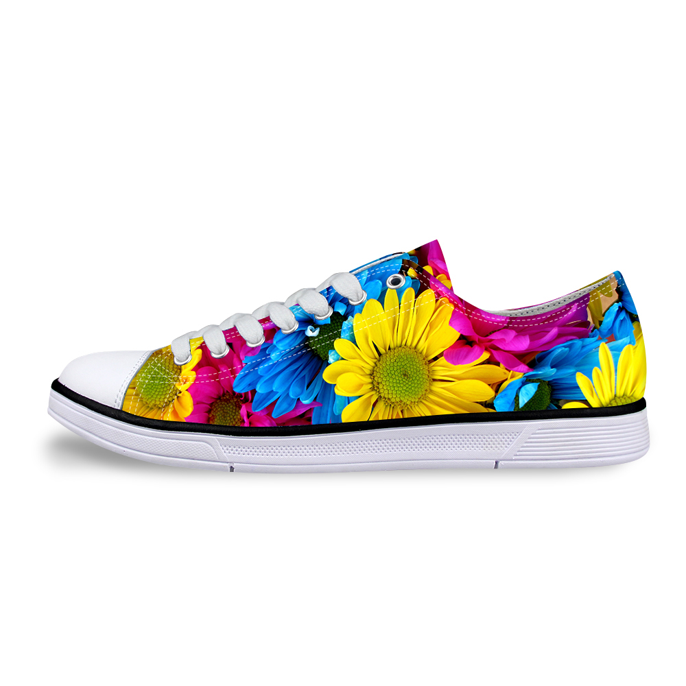FORUDESIGNS Female Fashion Low Top Canvas Shoes,Women Flats Rose Flower Print Casual Shoes New Classic Shoes Ladies Flat Shoes new touch screen touch glass for delta dop b07s410 touch panel dop b07s410 dopb07s410 freeship 1 year warranty