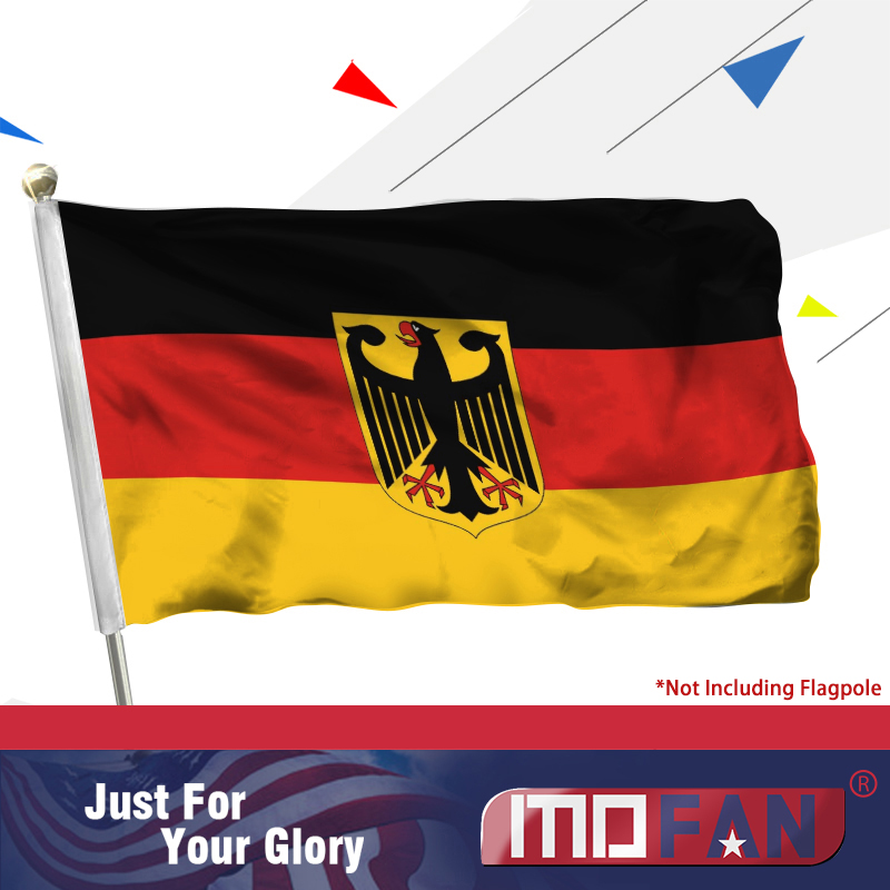 MOFAN German flag Ensign eagles flag Double Stitched Germany Eagle - Home Decor