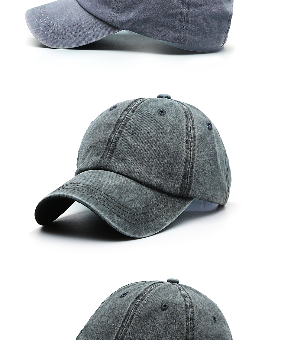 Summer Fashion Classic Casual Cotton Solid Snap back Baseball Cap