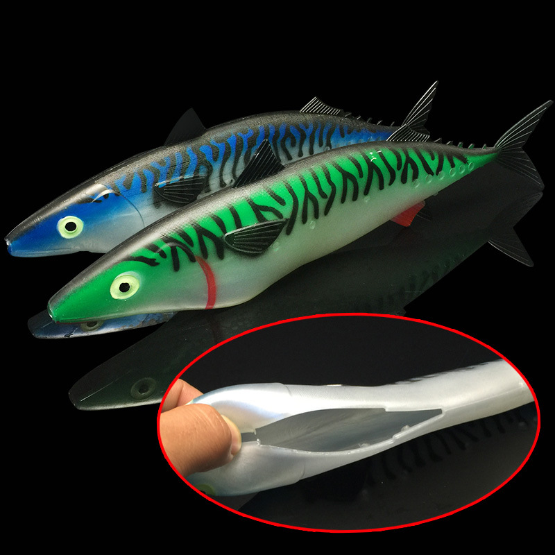 Hollow simulation big fish lure soft bait big lead sinker for Big fish tackle