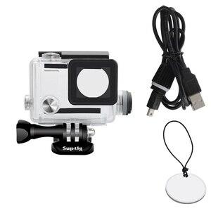 Image 2 - NEUE Sport Kamera Zubehör Charge Wasserdicht Fall Ladegerät shell Gehäuse Mit Usb kabel für Gopro Hero 4 3 + Für motorrad