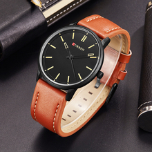 CURREN Luxury Brand Relogio Masculino Date Leather Casual Watch Men Sports Watches Quartz Military Wrist Watch Male Clock 8233