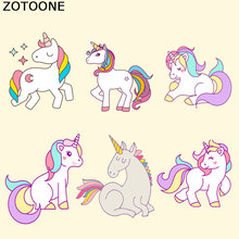 ZOTOONE Unicorn Patches Iron on Transfers Patch for Clothing Washable Appliques Dresses Decoration DIY Printing E