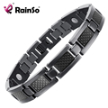 Top Quality Health Titanium Bracelet Bangle BLACK Plated Magnetic Care Bracelet Men Jewelry Love Bracelets OTB-1271BK