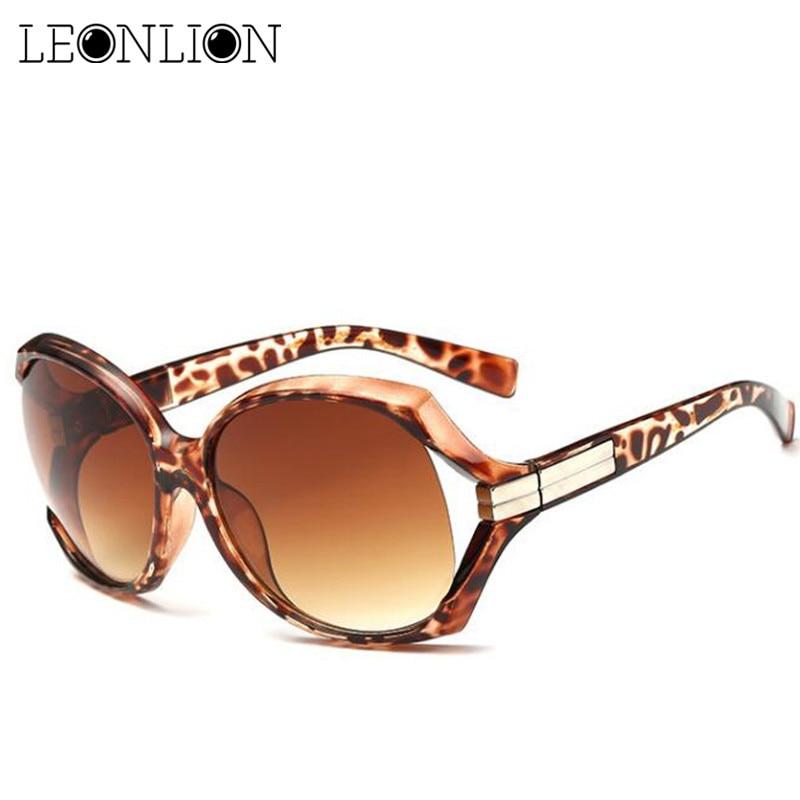 LeonLion 2019 Gradient Classic Ladies Sunglasses Women Brand Designer Vintage Oversized Sun Glasses UV400 Oculos De Sol Feminino
