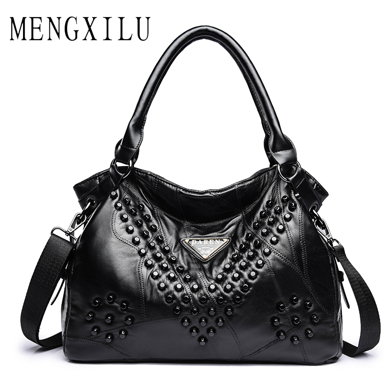 MENGXILU Brand Women Leather Handbags Fashion Leather Shoulder Crossbody Bag For Women Large Capacit