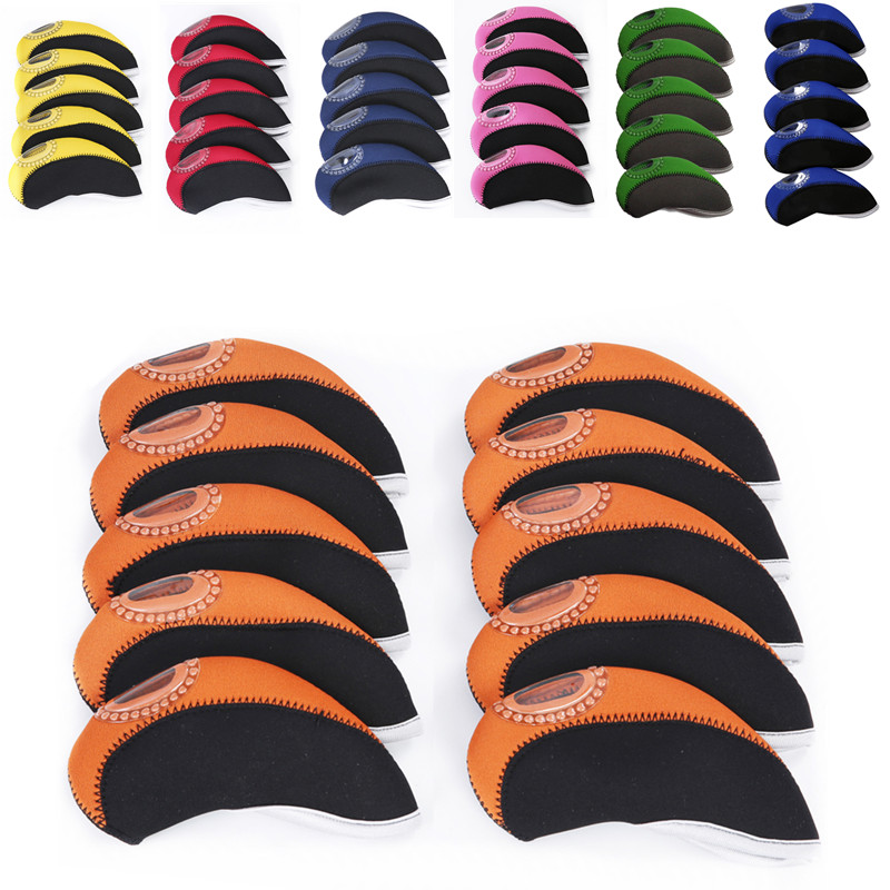 10pcs 13.3cm*5.5cm Golf Club Window Putter Cover Double Color Protective Headcovers Golf Accessories